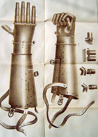 Götz von Berlichingen - The second iron prosthetic hand worn by Götz von Berlichingen.