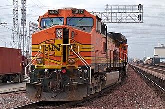GE Dash 9 Series - Image: GE C44 9W BNSF 4617