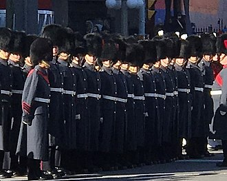 Governor General's Foot Guards - Members of the GGFG in their winter uniform, Remembrance Day 2017.