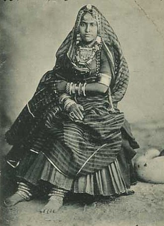 Gagra choli - Woman in traditional style of gagra choli worn in Hindi belt.