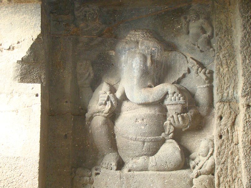File:Ganapati at Ellora.JPG
