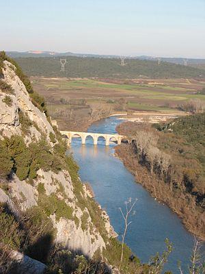 Saint-Nicolas-de-Campagnac Bridge - The Gardon at Pont Saint-Nicolas