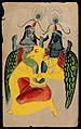 Garuda carrying two identical figures possibly Krishna and B Wellcome V0044989.jpg