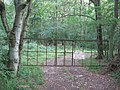 Gates into Water Eaton Copse, from Great Rose Lane - geograph.org.uk - 1456149.jpg