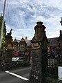 Gates of the former King Henry VIII Grammar School, Abergavenny, October 2018 (1).jpg
