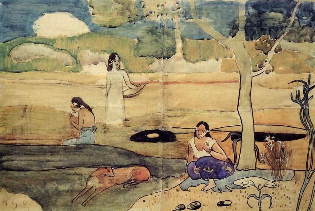 1024px-Gauguin_-_Tahitische_Szene - Nafea Faa Ipoipo? - Lifestyle, Culture and Arts