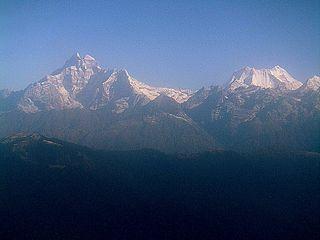 Rolwaling Himal Mountain range on Nepal/Tibet border