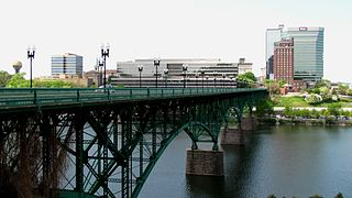 Gay Street Bridge Bridge in Knoxville, TN, USA over the Tennessee River