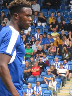 Gboly Ariyibi - Ariyibi playing for Chesterfield in July 2016