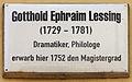 Gedenktafel Kirchplatz 26 (Wittenberg) Gotthold Ephraim Lessing.jpg