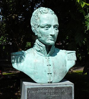 Daniel Florence O'Leary - Bust of General O'Leary, Fitzgerald Park, Cork