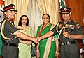 General V.K. Singh, the new Chief of Army Staff with the General Deepak Kapoor, in New Delhi on March 31, 2010.jpg