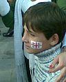 Georgian kid with flag painting.jpg