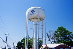 Water tower in Geraldine