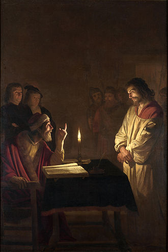 Gerard van Honthorst - Image: Gerard van Honthorst Christ before the High Priest WGA11650