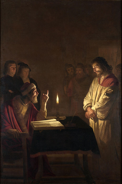 Gerard van Honthorst - Christ before the High Priest - WGA11650