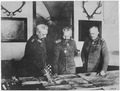 German General Headquarters. General von Hindenburg, Kaiser Wilhelm, General Ludendorff, January 1917., ca. 1919 - ca. 1 - NARA - 533182.tif