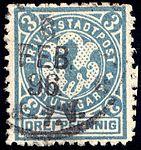 Germany Stuttgart 1890-99 local stamp 3pf - 14c used (2).jpg