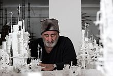 Gerry Judah, in his studio, 2014.JPG