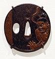 Giappone, periodo edo, tsuba (coprimano da elsa di spada), xviii e xix secolo, 08 dio della tempesta.jpg
