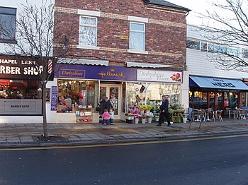 English: Gift, card and flower shop, Formby De...