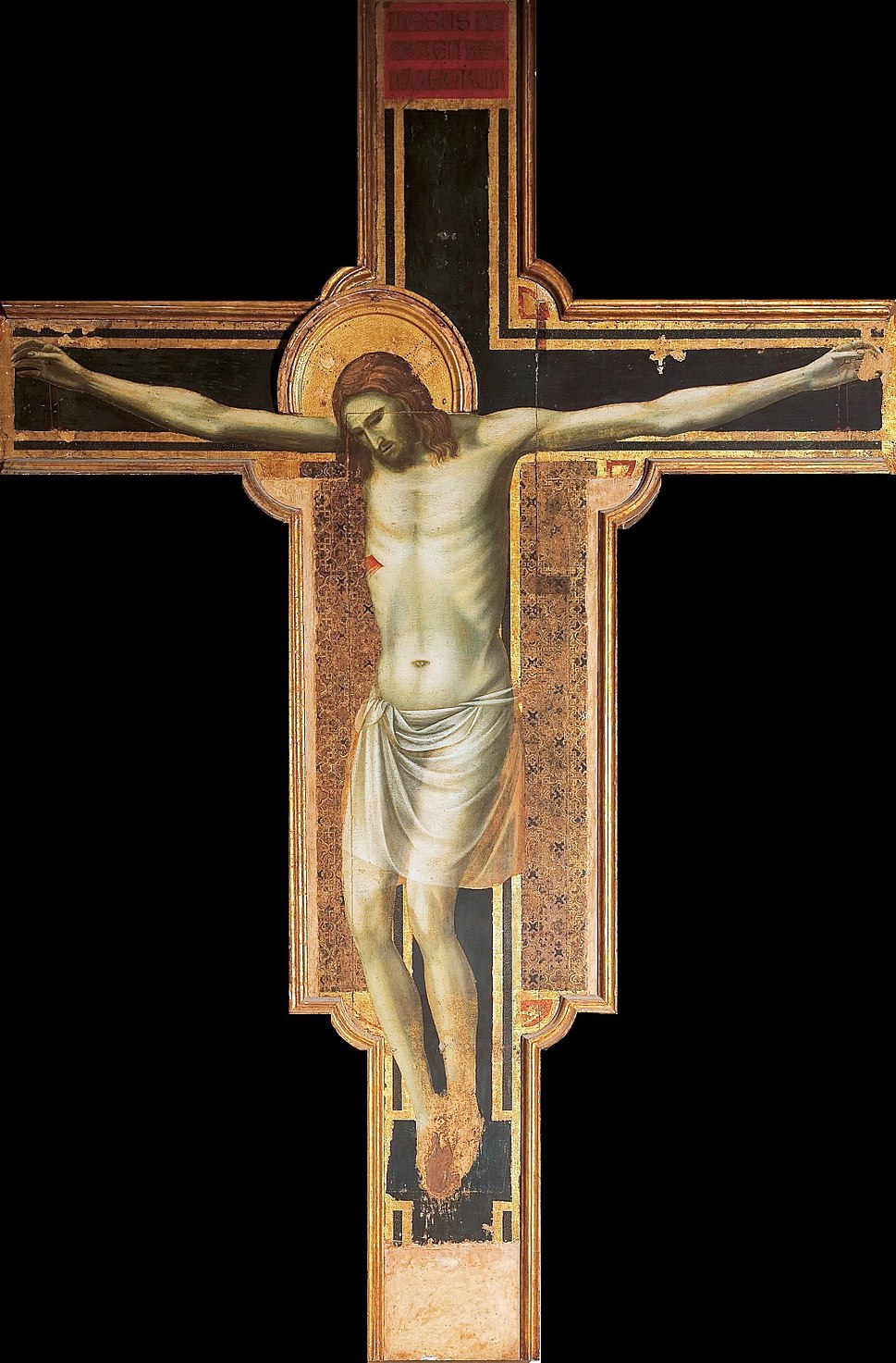 Giotto. the-crucifix-1310-17. 430х303 cm. Rimini, Tempio Malatestiano