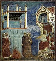 Giotto di Bondone: St Francis before the Sultan