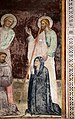Giovanni cristiani e bottega, natività, crocifissione con santi e compianto, 1390 ca. 13 san jacopo e una devota.jpg