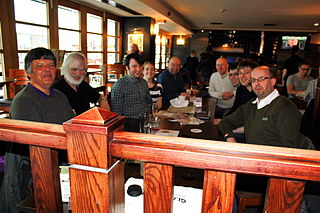 Attendees of the first ever Glasgow Meetup on Sunday 12 May 2013.