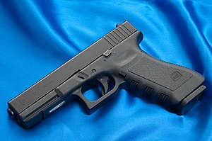 Firearm - A Glock 17 semi-automatic pistol