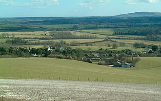 Glynde and Beddingham - Image: Glynde Place, Church and Home Farm geograph.org.uk 135096