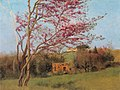 Godward-Landscape Blossoming Red Almond (study)-c. 1912.jpg