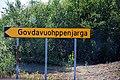 Govdavuohppenjarga road sign.jpg
