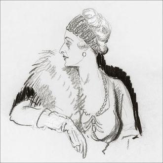 Grace Vanderbilt - Vanderbilt in 1936 by Porter Woodruff