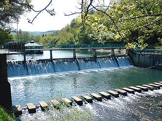 Gradac (river) - Image: Gradac Dam