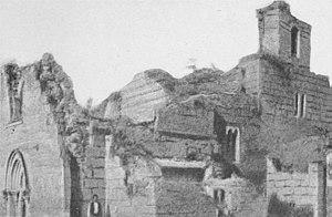 Gradac Monastery - Monastery in ruins 1917.