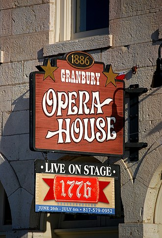 Granbury, Texas - Image: Granbury Opera House Marquee