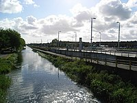 Grand Canal and Blackhorse Luas Stop - geograph.org.uk - 440743.jpg