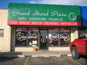Franklin Park, Illinois - Grand Stand Pizza on Grand Ave.
