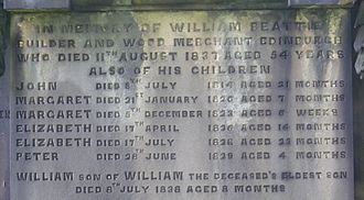 Economic history of Scotland - Evidence of high infant mortality on an Edinburgh gravestone