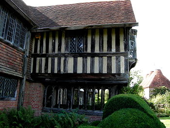 Porch of Great Dixter, Northiam, Sussex, England.