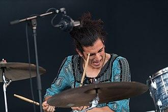 Greta Van Fleet - Danny Wagner playing at Rock im Park 2018 in Nuremberg, Germany