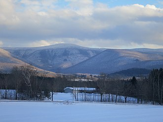 Mount Greylock - Mt. Greylock seen from the West