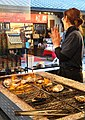 Grilled oysters - Food in Miyajima - DSC02187.JPG