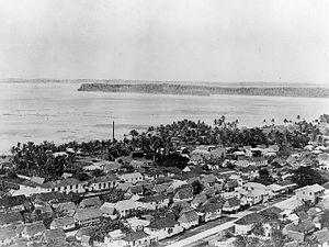 Hagåtña - Photo of Agana taken before World War II.