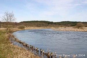 Gudenå - A northward view of the River Guden close to Lake Sminge