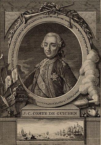 Luc Urbain de Bouëxic, comte de Guichen - Luc Urbain de Bouexic, comte de Guichen (1712-1790).