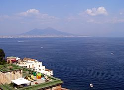 Gulf of Naples with Mount Vesuvius to the East