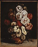 Gustave Courbet - Hollyhocks in a Copper Bowl - 48.530 - Museum of Fine Arts.jpg