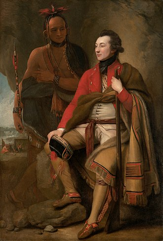 Guy Johnson - This painting by Benjamin West is usually identified as a portrait of Guy Johnson, although some historians argue that it depicts Sir William Johnson, Guy's uncle.
